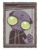 Office Zombie Cartoon — Stock Vector
