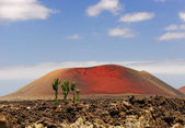 Red volcano — Stock Photo