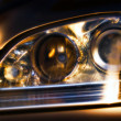 Car headlights — Stock Photo
