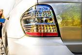 Car headlights — Stock Photo
