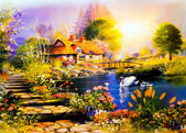 Manzara resim — Stok fotoğraf