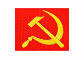 Old Soviet flag — Stock Photo