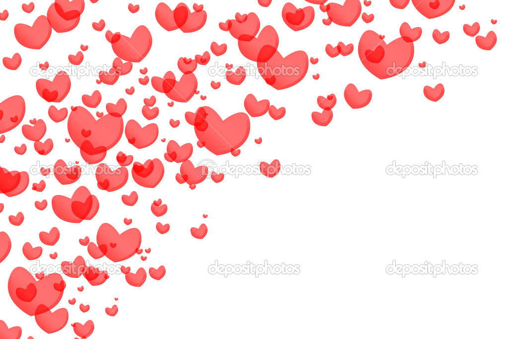 Red hearts isolated on white background — Stock Photo #1468638