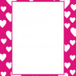 Stock Vector: Framework with hearts