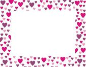 Frame from hearts — Stock Vector