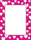 Framework with hearts — Stock Vector