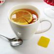 Cup of tewith teabag — Stock Photo #1471960