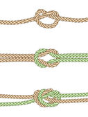 Different knots — Stock Vector