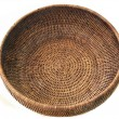 Round basket from rattan — Stock Photo #1528032