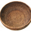 Stock Photo: Round basket from rattan