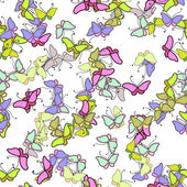Colorful seamless flowers pattern — ストックベクタ
