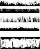 Grunge edges — Stock Vector