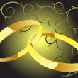 Two rings with dec - Imagen vectorial