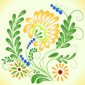 Beautiful flower vector — Stock Vector