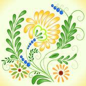 Vector flor hermosa — Vector de stock