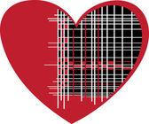 στυλιζαρισμένη κόκκινη καρδιά — Διανυσματικό Αρχείο