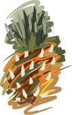 菠萝油 — 图库矢量图片