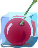 Fresh cherry — Stock Vector