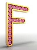 Golden letter embellished — Stock Photo