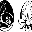 Stylized Easter Eggs - Stock Vector
