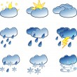 Weather icons set — Stock Vector #2478658