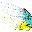 Dissolution of Butterflies — Imagen vectorial