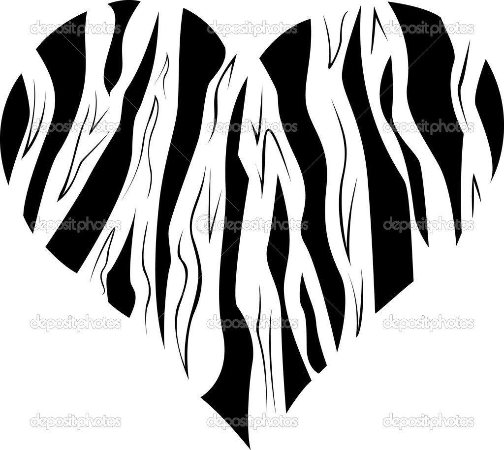 Pattern in the form of heart. Vector illustration — Stock Vector #2474044
