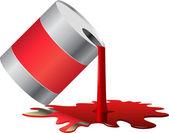 Paint barrel — Stock Vector