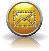 Symbol of the Internet mail — 图库矢量图片