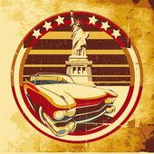 Cartaz estilo americano — Vetor de Stock