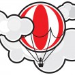 A balloon in clouds - Stock Vector