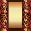 Background with golden frame — Image vectorielle