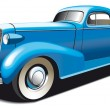 Blue Old Car - Stok Vektr