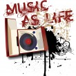 Royalty-Free Stock Immagine Vettoriale: Music as Life