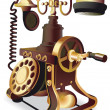 Royalty-Free Stock Vector Image: Old-style telephone