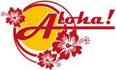 Aloha! — Vector de stock