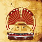 Amerikan tarzı poster ii — Stok Vektör