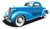 Modré staré auto — Stock vektor