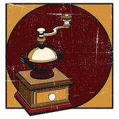 Coffee mill grunge — Stock Vector