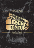 Iron century_golden — Stock Vector