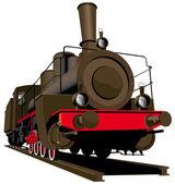 Old steam locomotive — Stock Vector