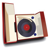 Old-fashioned record player — Stock Vector