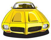 Yellow sport car — Stock Vector