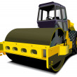 Stock Vector: Road roller