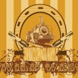 Royalty-Free Stock Imagen vectorial: Wild West Vignette
