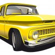Royalty-Free Stock Vector Image: Yellow Pickup