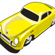 Royalty-Free Stock Vector Image: Yellow sport car