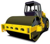 Road roller — Stock Vector