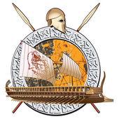 Ancient War — Stock Vector