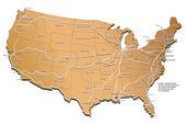 USA railway map — Stock Vector